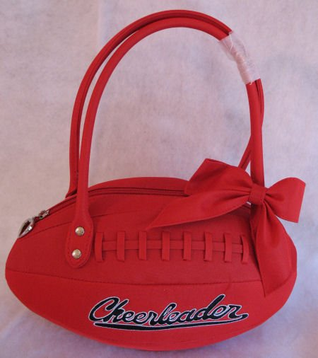 Junior Tween Football Handbag Bag Purse Cheerleader