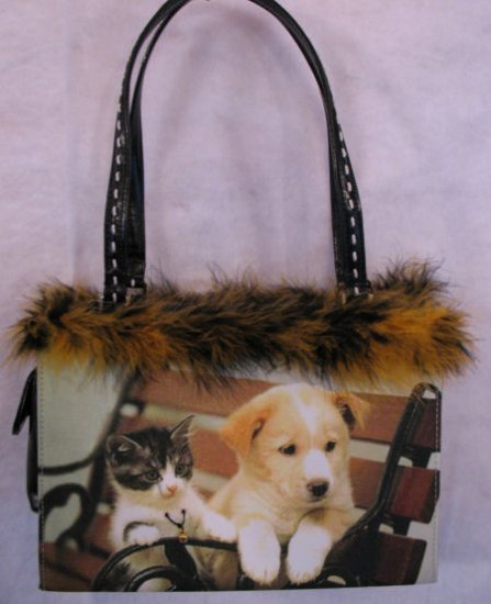 Kitten & Puppy Friends Handbag bag purse