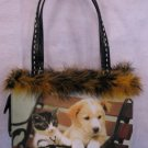 Kitten & Puppy Friends Handbag bag purse