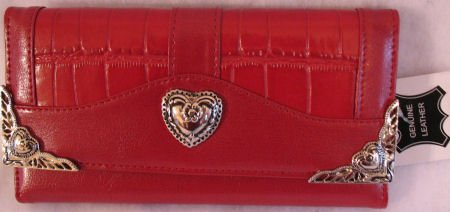 Womens red checkbook wallet inspired design clutch