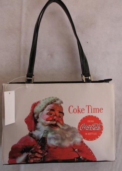 Santa & Coke Christmas Holiday Handbag BAG PURSE