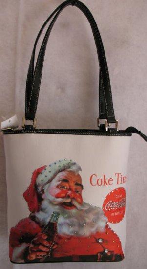 Santa & Coke handbag bag purse holiday Christmas