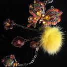 Beautiful Butterfly Keychain belt purse clip