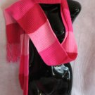 Pink Scarf and Hat Set scarves hats Striped extra long