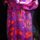RED HAT purple red scarf belt runner wrap