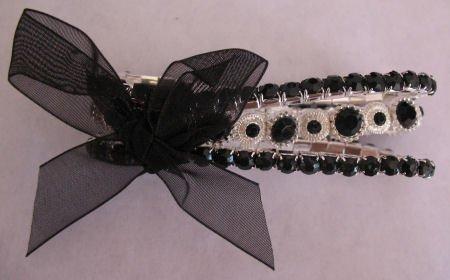 Black Rhinestone 3 strand Bracelet Jewelry