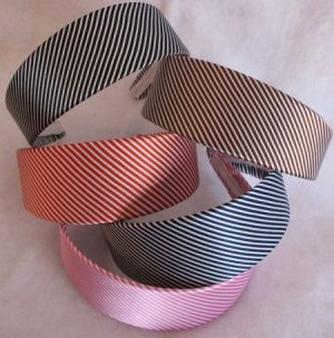 1 RED striped headband Womens Hair Accessories