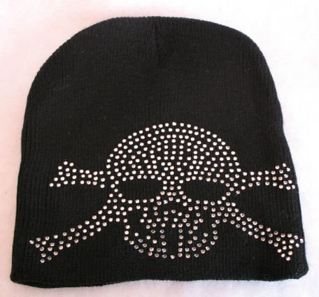 Hot Skull & Crossbone Jolly Roger look Hat Cap winter