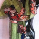 Picasso Scarf Green Blue Orange Scarves Wrap SOLD OUT