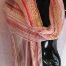 Red Yellow pink stripe cheetah Scarf scarves wrap
