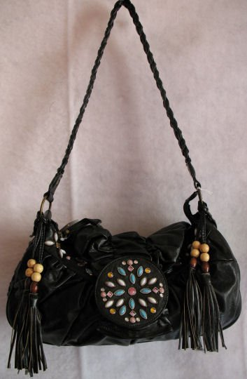 Beautiful Black Beaded bag :) Hot style!