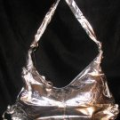 Metallic silver tie side handbag bag purse medium sized CafeBug Women's Accessories