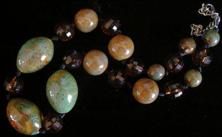 Stoneware pottery Tortoise Glazed bead Necklace