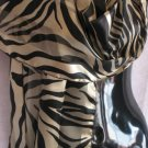 Tiger Striped Scarf Black Tan Scarves wrap