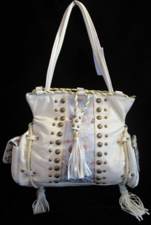 Western Princess Cream handbag bag tote UNIQUE