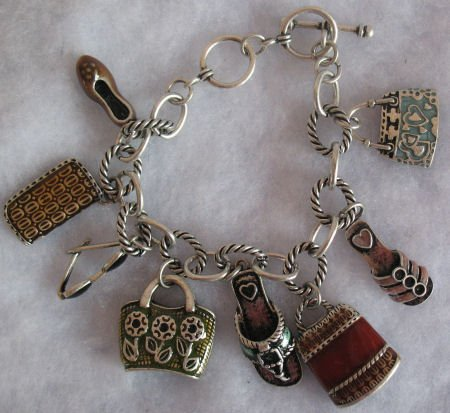 Beautiful Oversized charm Bracelet handbag, shoes,
