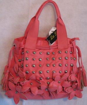 Flower Power studs Hot Pink Handbag bag purse handbags