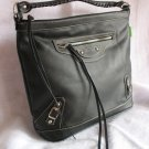 Celebrity Style Motorcycle Black tote handbag bag