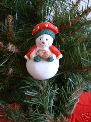 SNOWWOMAN WITH BUNNY ORNAMENT, **NEW**