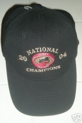 DENVER UNIVERSITY NATIONAL CHAMPIONS HOCKEY CAP, Black *NEW*