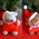 CHRISTMAS MOUSE & BEAR STUFFED ANIMALS **NEW**