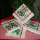"HOLIDAY LUNCHEON NAPKINS,4-16CT,3PLY,13""X13.5 PACKAGES"