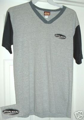 STAR WARS EMBROIDERED T-SHIRT, LARGE **NEW**