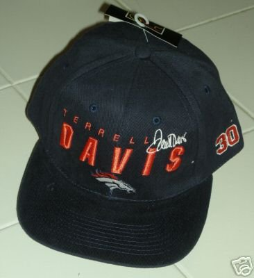 TERRELL DAVIS EMBROIDED BALL CAP, COLLECTIBLE *NEW*
