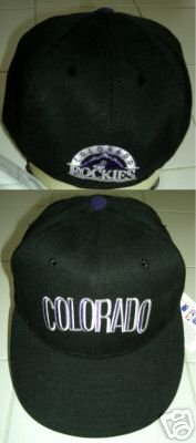 COLORADO ROCKIES GENUINE TEAM BASEBALL CAP, SIZE 6.5  *NEW*