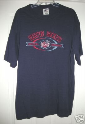 HOUSTON ROCKETS EMBROIDERED SHIRT, XL *NEW*