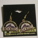 COLORADO ROCKIES GOLDTONE J-HOOK EARRINGS   *NEW*