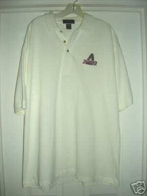 DIAMONDBACKS EMBROIDERED ANTIQUA POLO SHIRT, XL *NEW