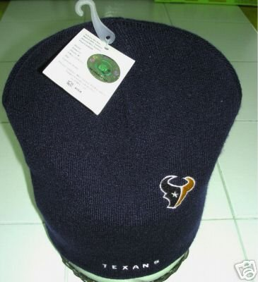 HOUSTON TEXANS KNIT CAP EMBROIDERED by REEBOK *NEW*