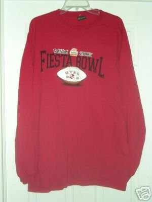 UTAH UTES FIESTA BOWL 2005 LONG SLEEVE T-SHIRT, XL *NEW