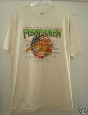 FISHERMAN - AN AMERICAN TRADITION T-SHIRT,LARGE **NEW**