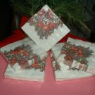 "HOLIDAY BEVERAGE NAPKINS,16CT, 3PLY,10""X10"",6 PACKAGES"
