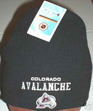 COLORADO AVALANCHE NHL BOILER CAP, BLACK  **NEW**