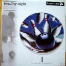 "BOWLING NIGHT 12 1/4"" PLATTER by LUMINARC *NIB*"