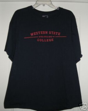 WESTERN STATE COLLEGE T-SHIRT, XL *NEW*