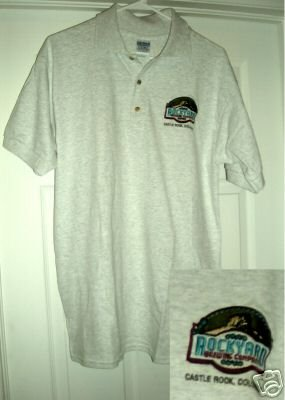 ROCKYARD BREWING COMPANY EMBROIDERED POLO, MED **NEW**