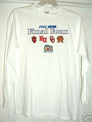FINAL FOUR NCAA '02 ATLANTA EMBROIDERED SHIRT, MED *NEW