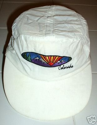 HOT AIR BALLOON COLORADO EMBROIDERED WHITE CAP,  *NEW*