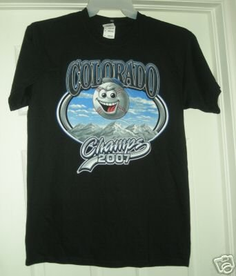 COLORADO CHAMPS 2007 T-SHIRT, SMALL *NEW*
