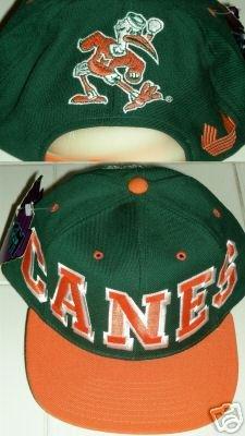 UNIVERSITY OF MIAMI HURRICANES EMBROIDERED CAP **NEW**
