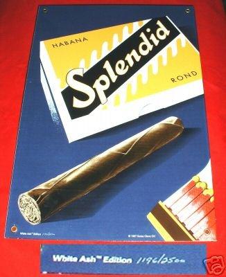 HABANA SPLENDID CIGARS SIGN, WHITE ASH LTD ED #'ed *NEW