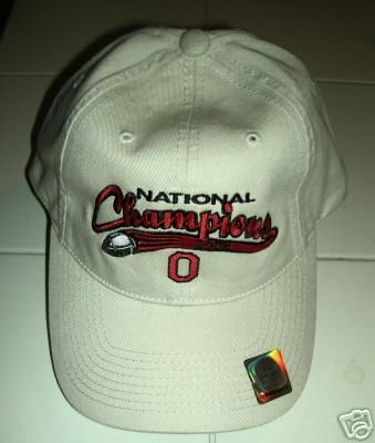 OHIO STATE 2002 NATIONAL CHAMPS EMBROIDERED CAP *NEW*