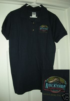 ROCKYARD BREWING COMPANY EMBROIDERED POLO, SM **NEW**