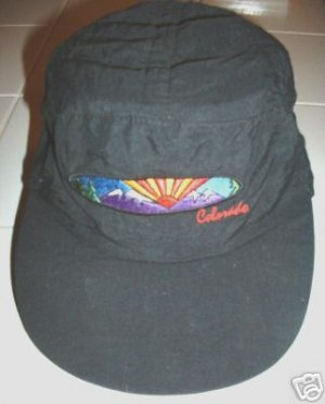 HOT-AIR BALLOON COLORADO EMBROIDERED BLACK CAP,  *NEW*