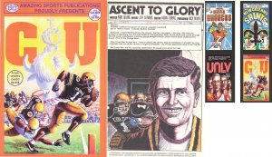 CU FOOTBALL COMIC BOOK W/ ELWAY FOOTBALL CARD, COLLECTIBLE *NEW*