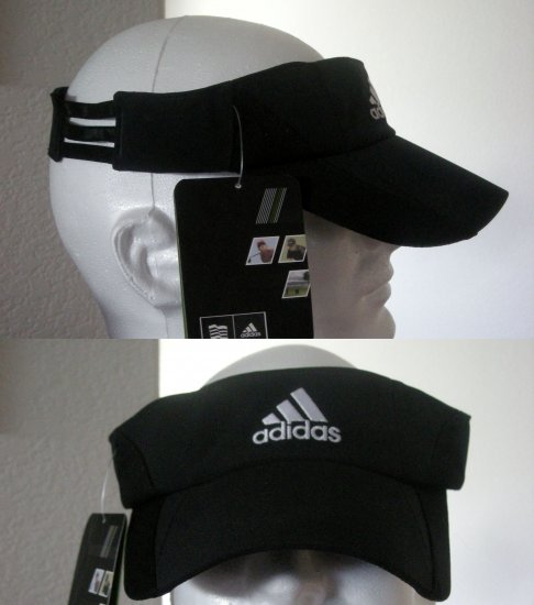 "ADIDAS ""CLIMACOOL"" EMBROIDERED VISOR, BLACK *NEW"